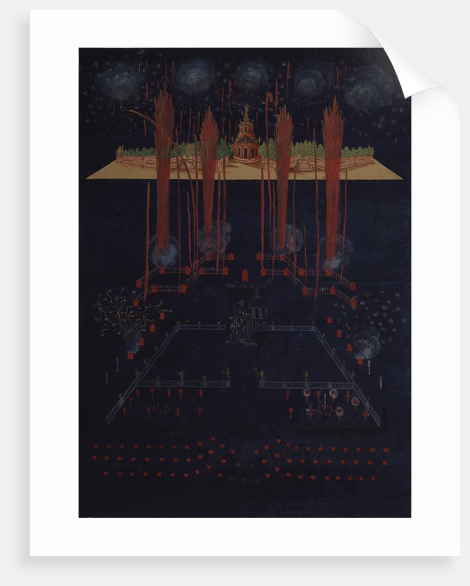 Fireworks and illumination on February 10, 1742, Mid of the 18th cen by Anonymous