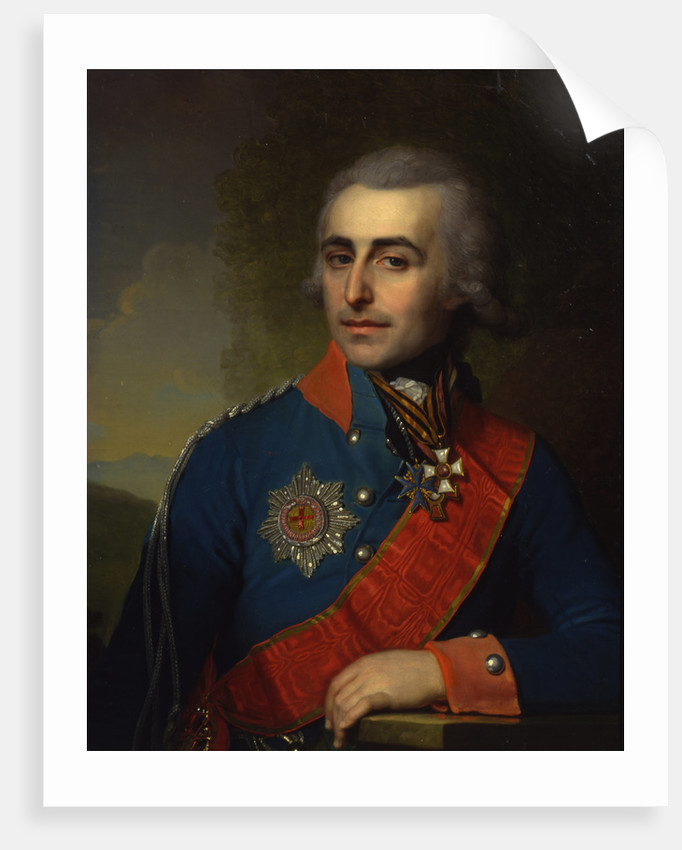 Portrait of the General-aide-de-camp Count Pyotr Tolstoy by Vladimir Lukich Borovikovsky
