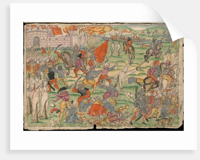 Russian atrocities in Livonia on July and August 1577 by Anonymous