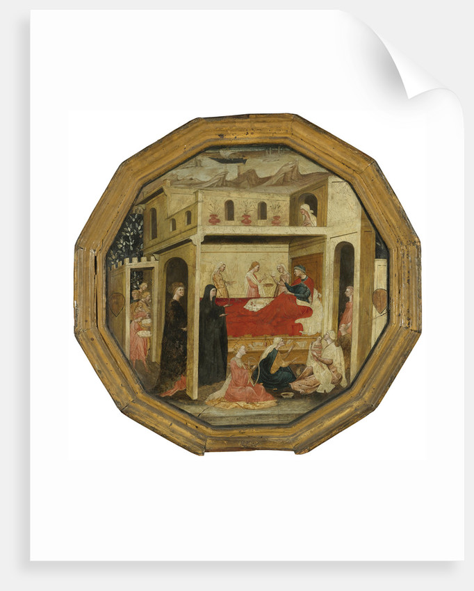 The Montauri birth tray by Bartolomeo di Fruosino