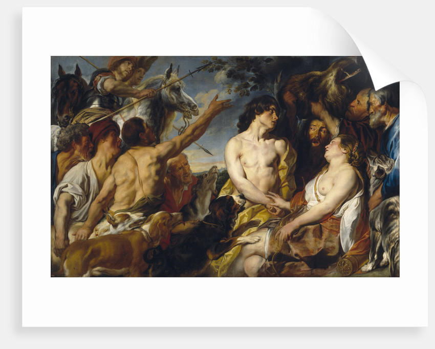 Meleager and Atalanta by Jacob Jordaens