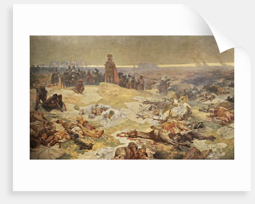 After the Battle of Grunwald. The Solidarity of the Northern Slavs (The cycle The Slav Epic) by Alfons Marie Mucha