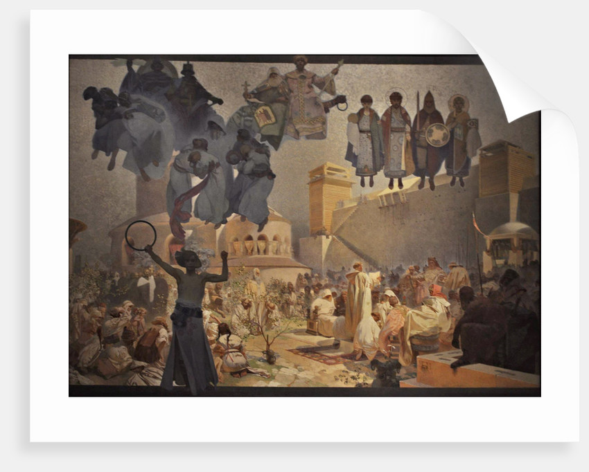 The Introduction of the Slavonic Liturgy (The cycle The Slav Epic) by Alfons Marie Mucha