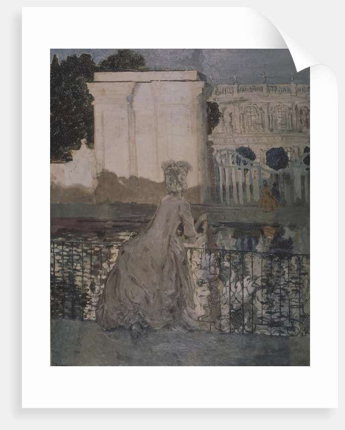 Lady at the pond by Konstantin Andreyevich Somov