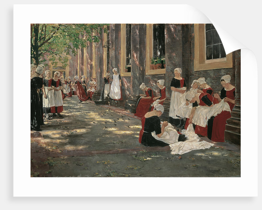 Free Period in the Amsterdam Orphanage by Max Liebermann