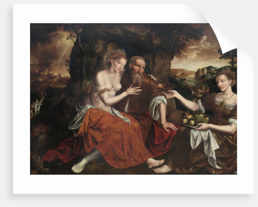 Lot and his Daughters by Jan Massys