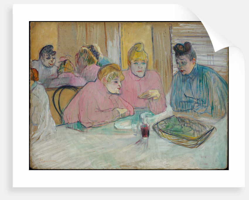 The Ladies in the Dining Room by Henri de Toulouse-Lautrec