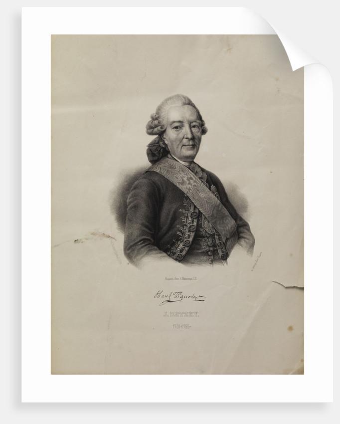 Portrait of Ivan Ivanovich Betskoi by Pyotr Fyodorovich Borel