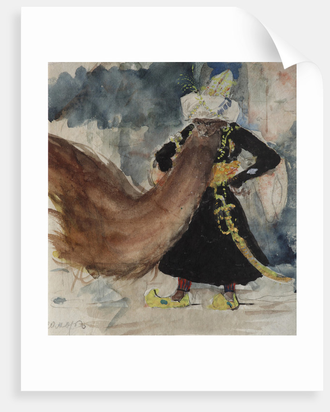 Chernomor. Costume design for the opera Ruslan and Lyudmila by M. Glinka by Valentin Alexandrovich Serov