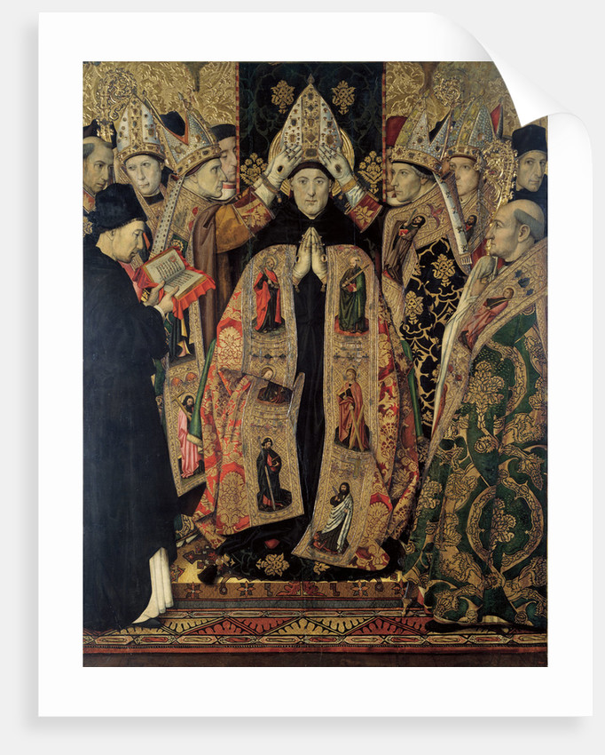 The Consecration of Saint Augustine by Jaume Huguet