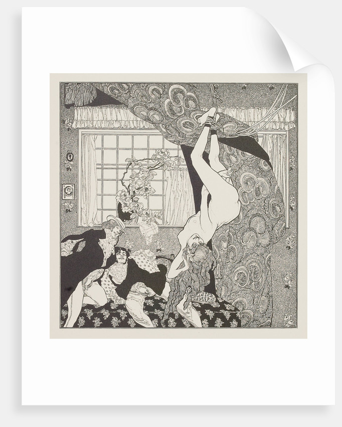 Illustration for the Tales at the Dressing Table by Choisy Le Conin by Franz von Bayros