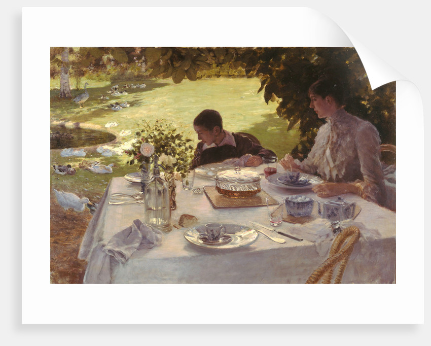 Breakfast in the garden by Giuseppe De Nittis