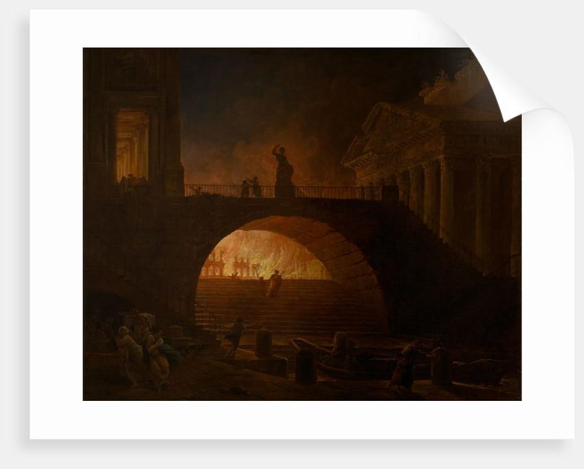 The Burning of Rome by Hubert Robert