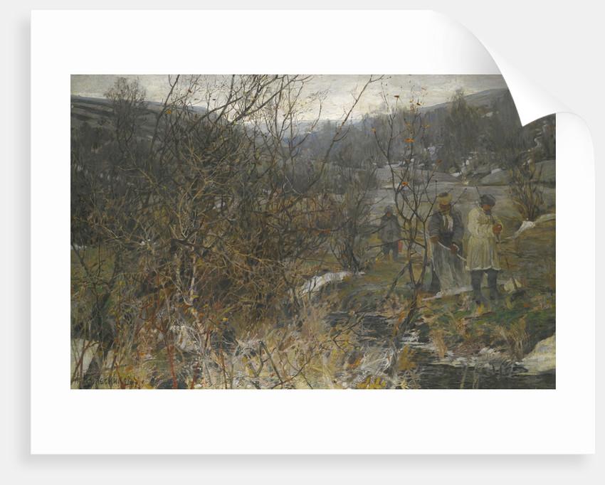 Winter Hunt by Ivan Fyodorovich Kolesnikov