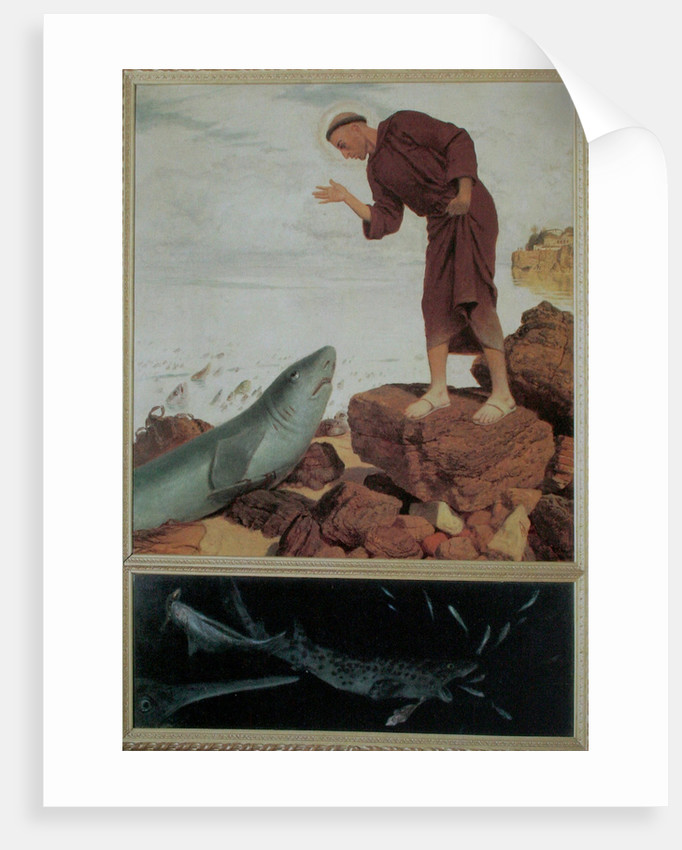 Saint Anthony Preaching to the Fish by Arnold Böcklin