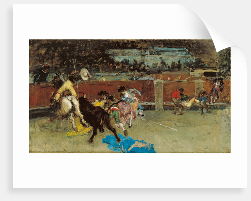 Bullfight. Wounded Picador by Marià Fortuny