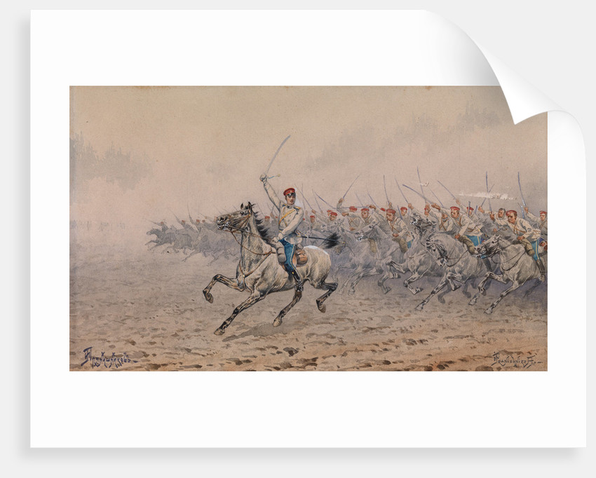 Charge of the Cavalry by Ivan Petrovich Pryanishnikov