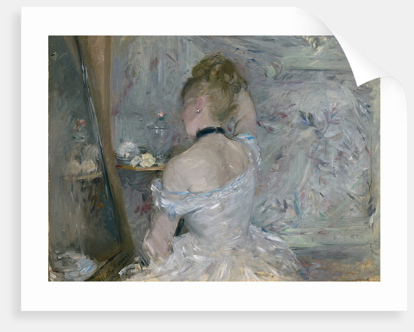 Woman at Her Toilette, 1875-1880 by Berthe Morisot
