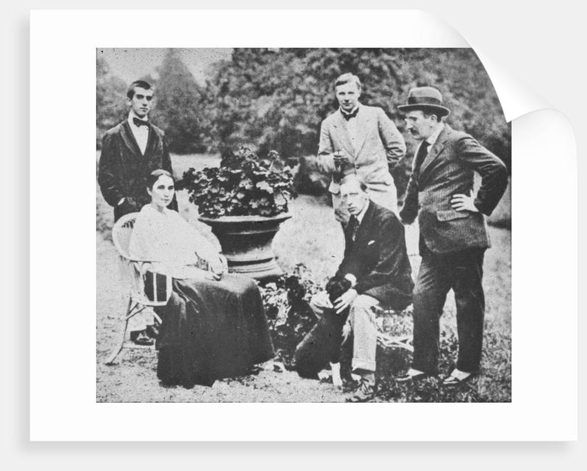 Natalia Goncharova, Leonide Massine, Léon Bakst, Mikhail Larionov and Igor Stravinsky in Lausanne, 1 by Anonymous