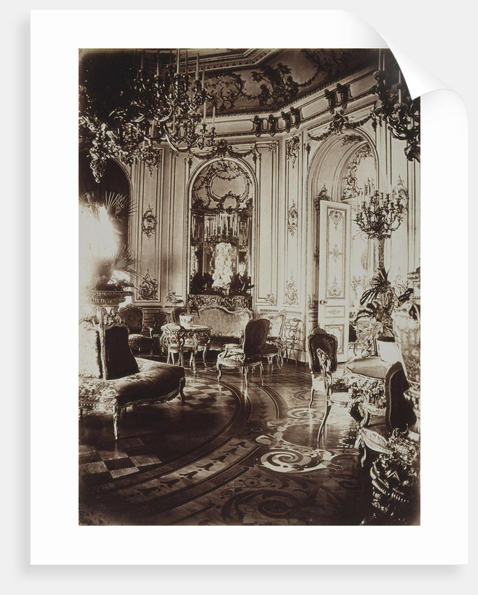 The Stroganov palace in Saint Petersburg. Oval Living Room, 1860s by Giovanni Bianchi