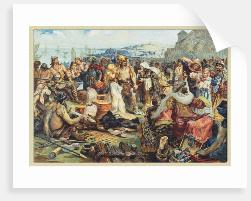Trade in an Early East Slavic State, 19th century by Anonymous