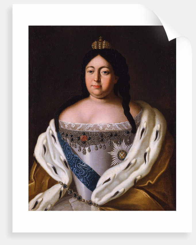 Portrait of Empress Anna Ioannovna, 18th century by Anonymous