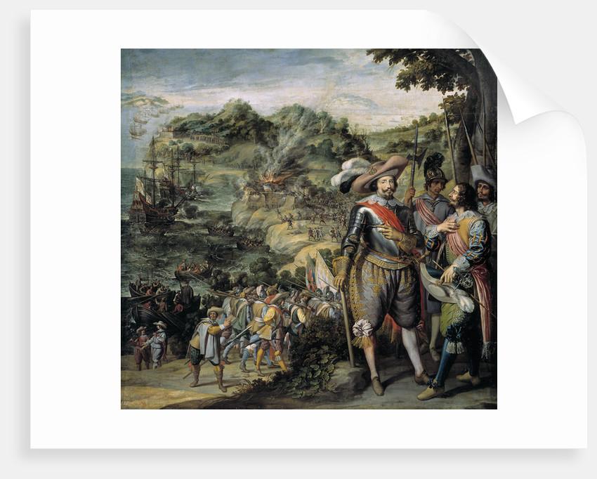 The capture of Saint Kitts by Don Faderique de Toledo, 1634 by Félix Castello
