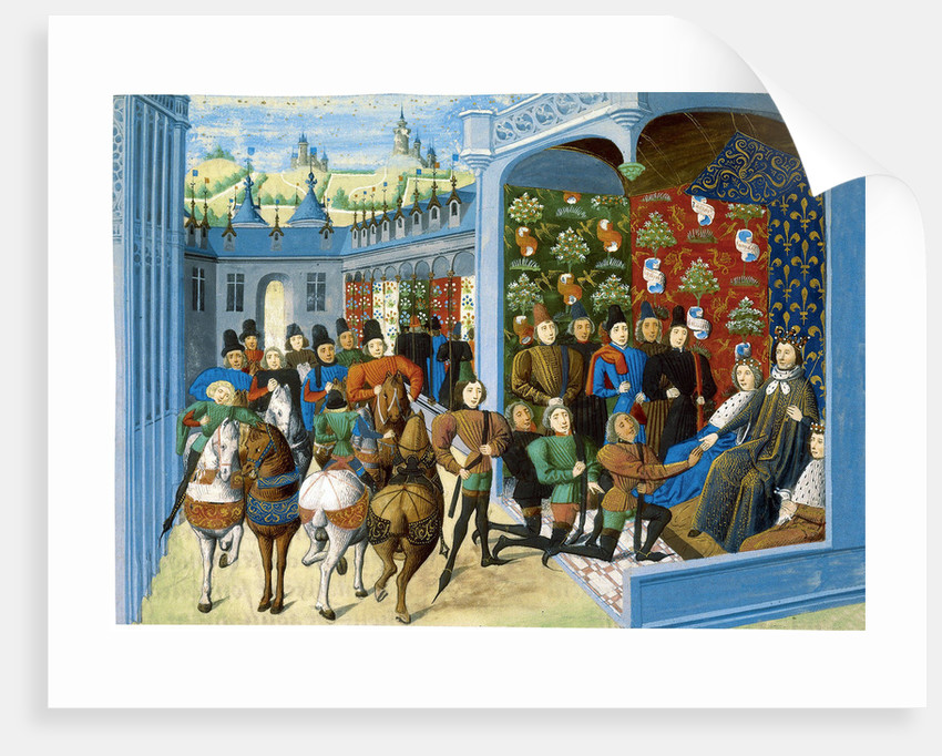 King Charles VI of France receives the English envoys by Master of the Harley Froissart