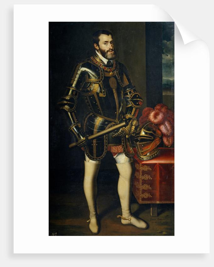 Portrait of Charles V of Spain, 1605 by Juán Pantoja de la Cruz