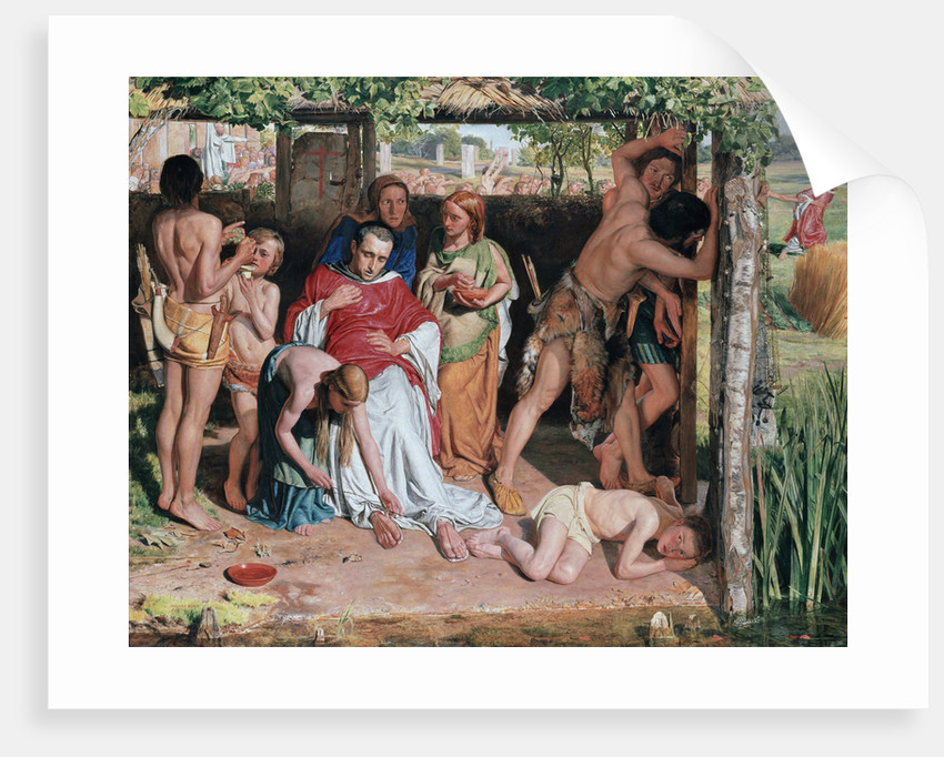 A Converted British Family Sheltering a Christian Missionary from the Persecution of the Druids, 185 by William Holman Hunt