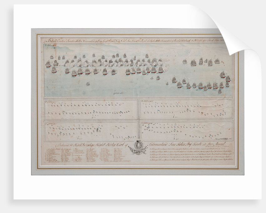 The naval Battle of Öland on 26 July 1789, 1804 by Anonymous