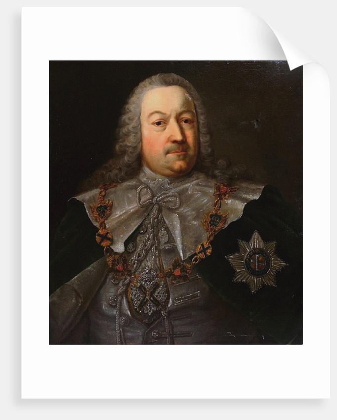 Portrait of Hermann Carl von Keyserlingk, Mid of the 18th century by Michael Christoph Hagelgans