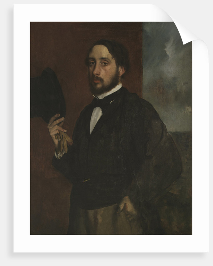 Self-portrait with Raised Hat, ca 1863 by Edgar Degas