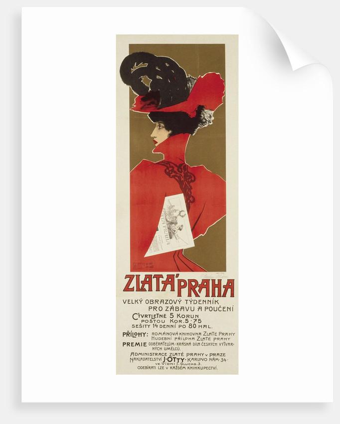 Zlata Praha, 1898 by Václav Oliva