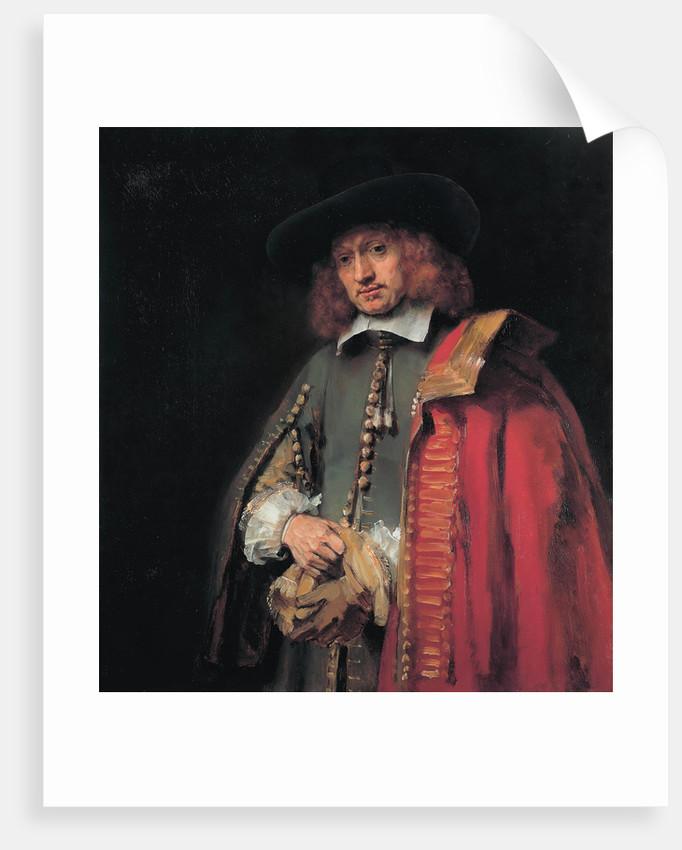Portrait of Jan Six, ca 1654 by Rembrandt van Rhijn