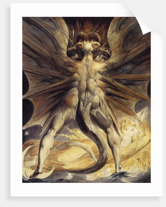 The Red Dragon and the Woman Clothed in Sun, ca 1802-1805 by William Blake