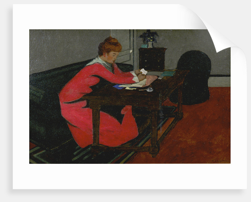 Misia at her desk, 1897 by Felix Edouard Vallotton