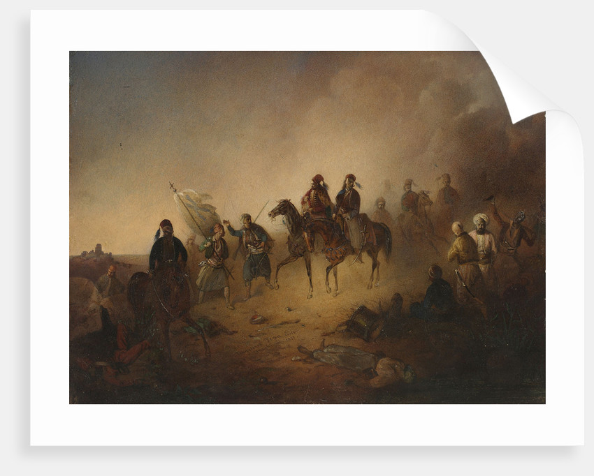 Markos Botsaris at the Battle of Karpenisi, on the night of August 8, 1823, 1852 by Franciszek Tomasz Tepa