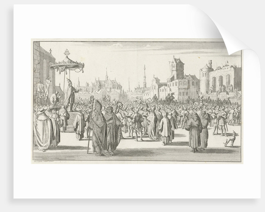 Pope Urban II preaches the First Crusade, 1683 by Timotheus Ten Hoorn