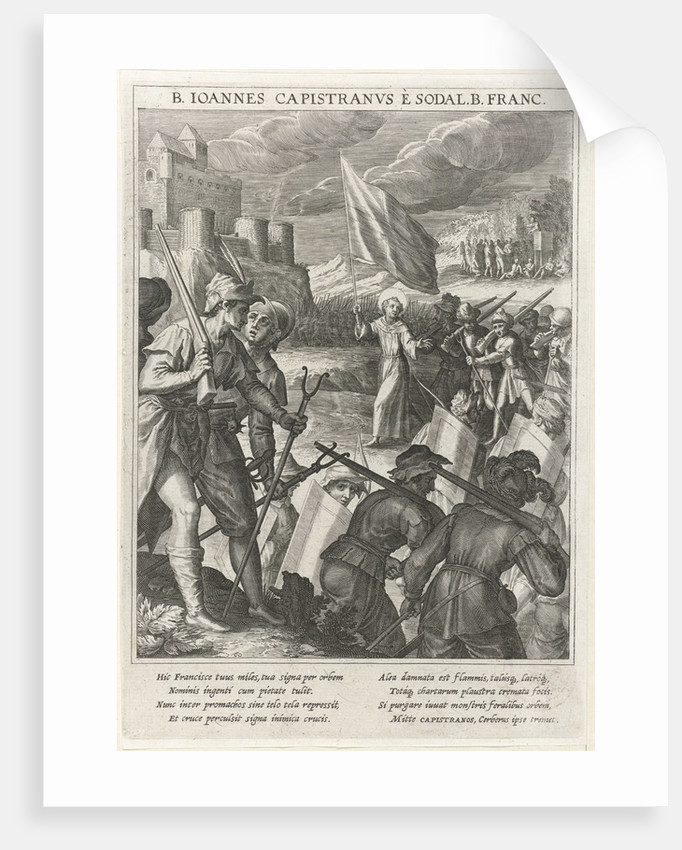 Saint John of Capistrano leads the Christian forces in the siege of Belgrade, 1615 by Johann Matthias Kager