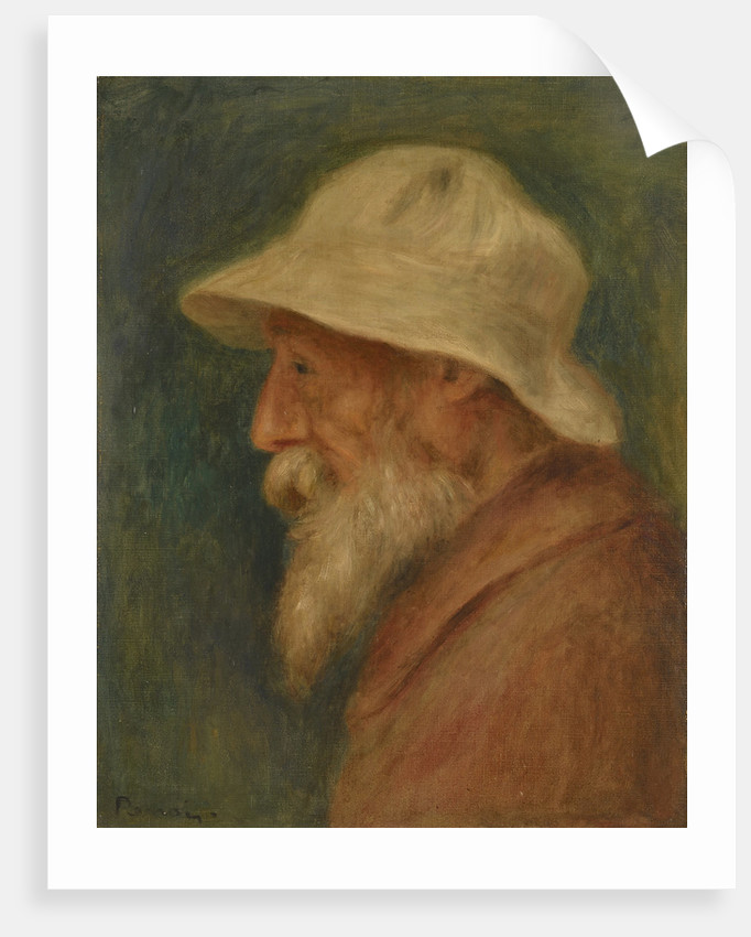 Self-portrait with white hat, 1910 by Pierre Auguste Renoir