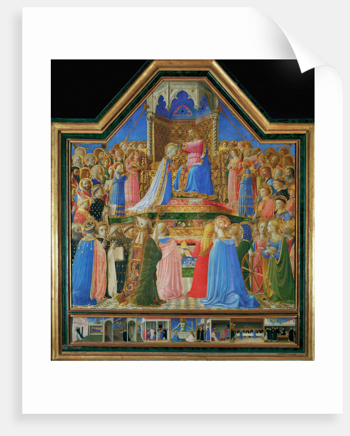 The Coronation of the Virgin, ca 1430 by Fra Giovanni da Fiesole Angelico