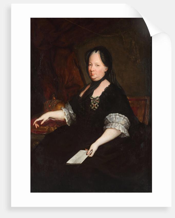 Portrait of Empress Maria Theresia of Austria as a widow, 1772 by Anton von Maron