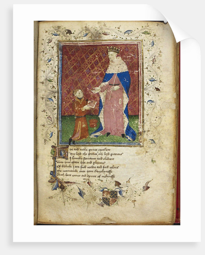 The author presenting his book to Henry V (from Thomas Hoccleves Regiment of Princes), 15th century by Anonymous