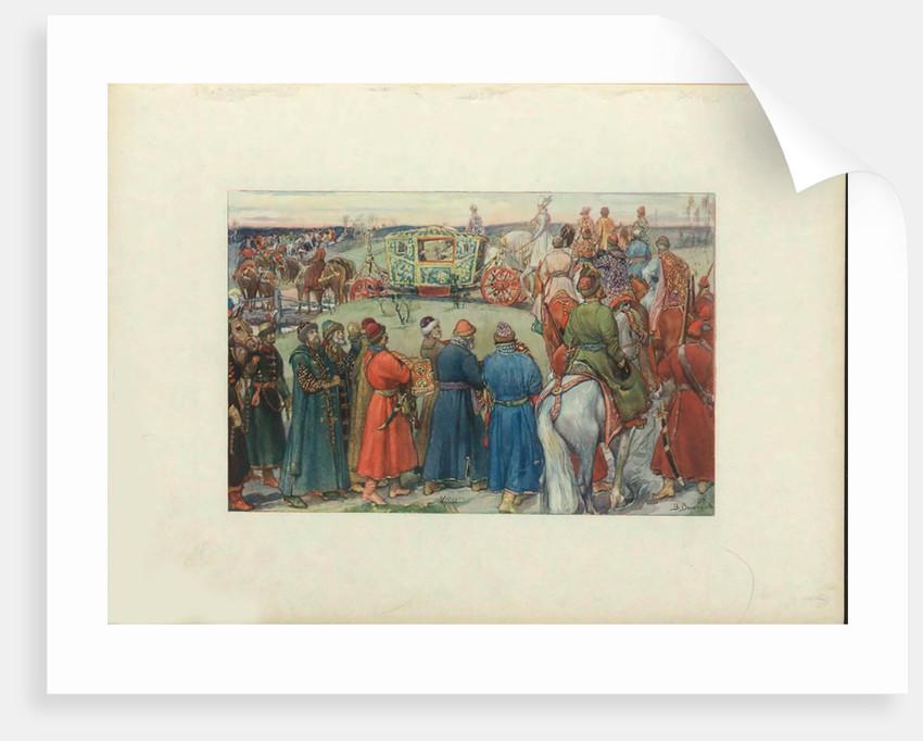 Tsars Alexei Mikhailovich Ride to the Hunt, 1896 by Viktor Mikhaylovich Vasnetsov