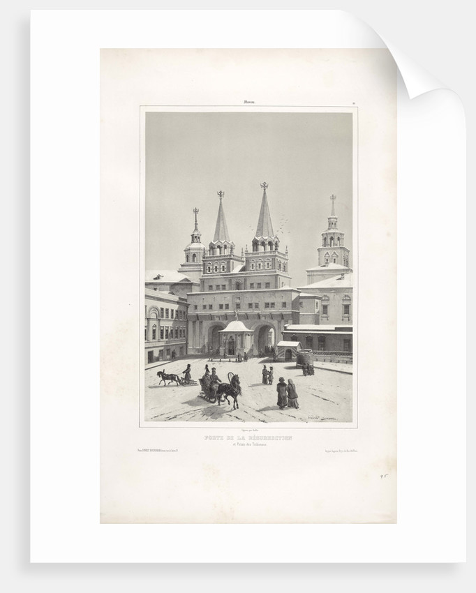 The Resurrection Gate in Moscow, 1839 by André Durand