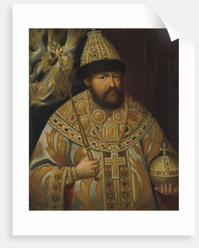 Portrait of the Tsar Alexis I Mikhailovich of Russia, Late 18th cent by Anonymous