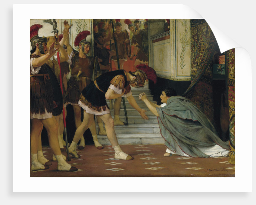Proclaiming Claudius Emperor, 1867 by Sir Lawrence Alma-Tadema