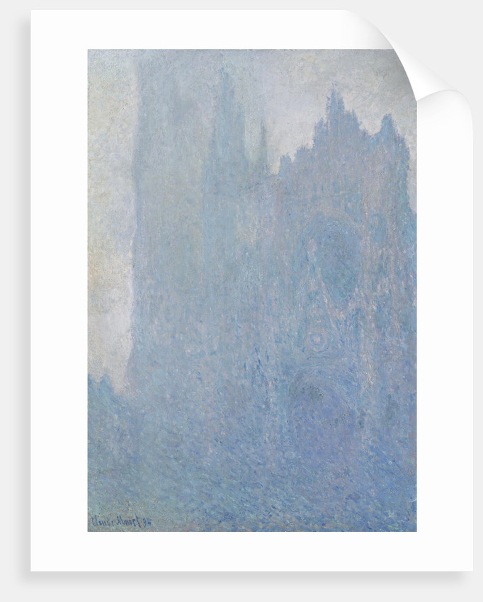 The Rouen Cathedral in fog, 1893 by Claude Monet
