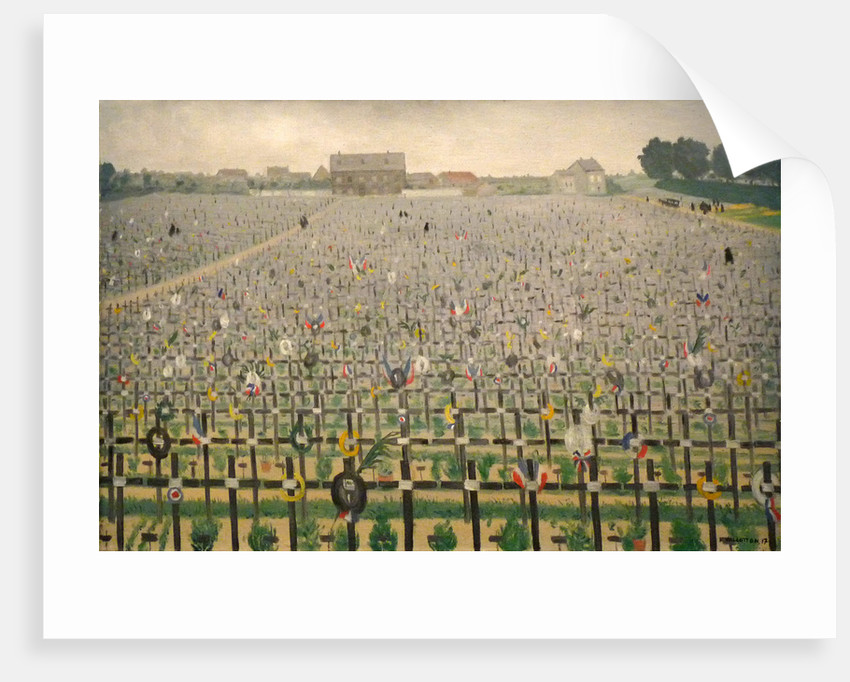 Military cemetery at Châlons-sur-Marne, 1917 by Anonymous